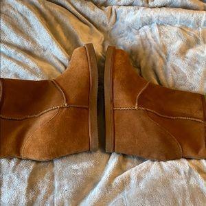 Nine West faux fur lined wedge booties